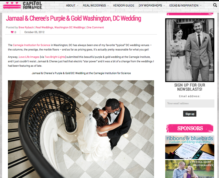 Jamaal & Cheree's Purple & Gold Washington, DC Wedding