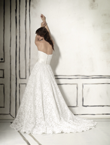 Justin Alexander 8557 right here at Ellie's Bridal Boutique