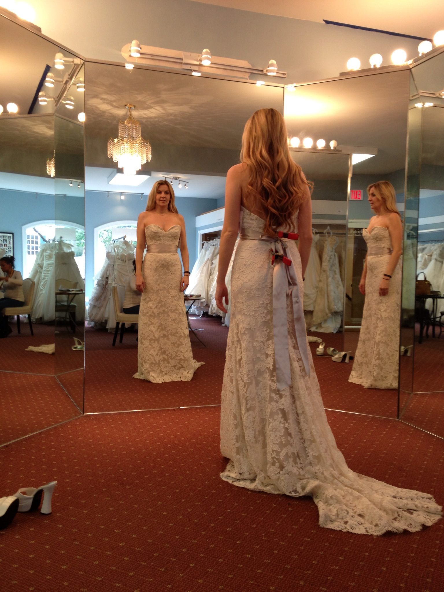 Envisioning the gown she asked for.