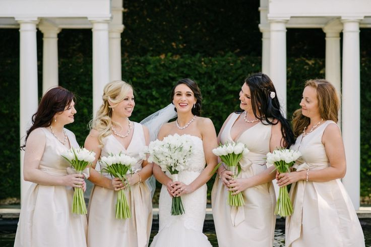 Andrea & her bridesmaids on February 14, 2015 ♥ Riverland Studios at the  William Aiken House  (Charleston, SC)