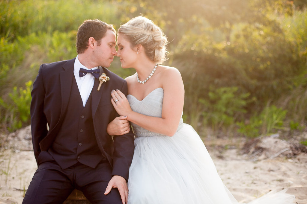 """Hitched by Heather's """"Natural Nautical"""" Styled Shoot Editorial ♥  Alicia Jayne Florals and Stacey Windsor Photography  at Cove Point Lighthouse (Lusby, MD)"""