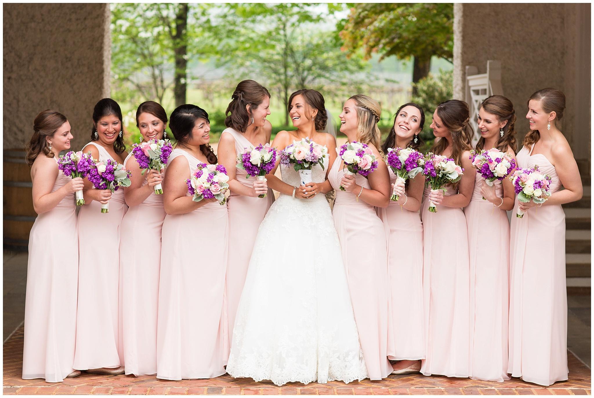 Catherine & her bridesmaids on April 25, 2015 ♥ The Herrintons Photo Videoat Keswick Vineyards   (Keswick, VA)
