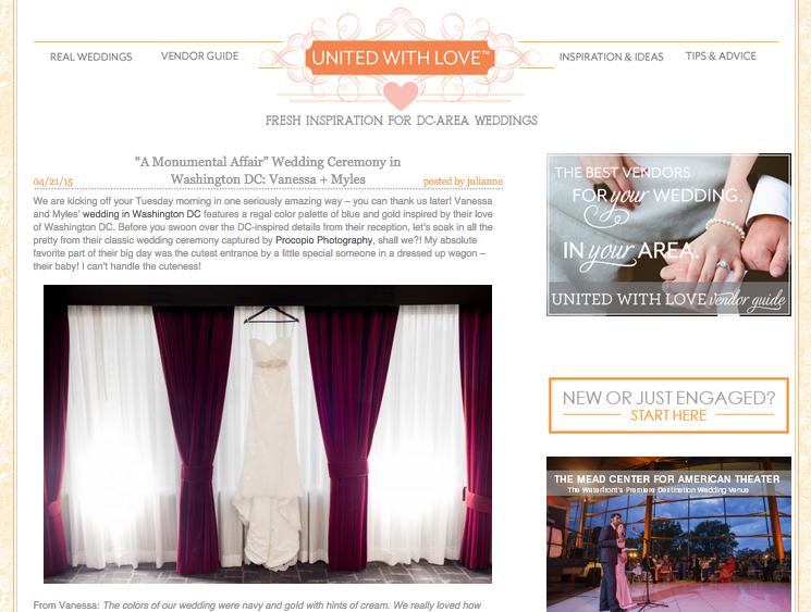 """A Monumental Affair"" Wedding Ceremony in Washington DC: Vanessa + Myles"