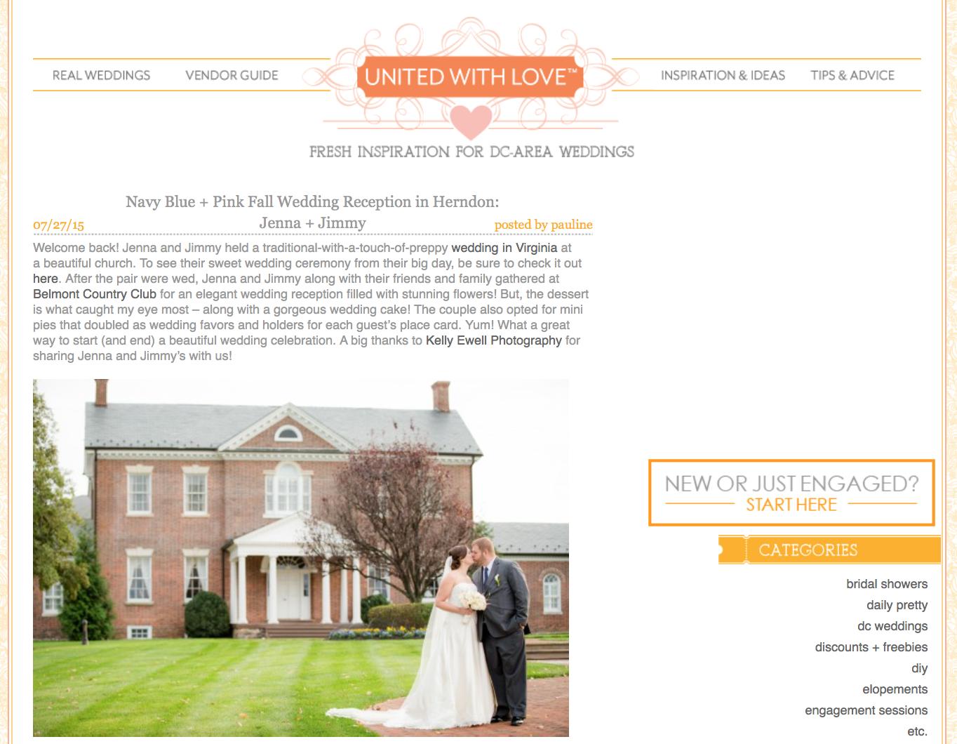 Navy Blue + Pink Fall Wedding Reception in Herndon: Jenna + Jimmy