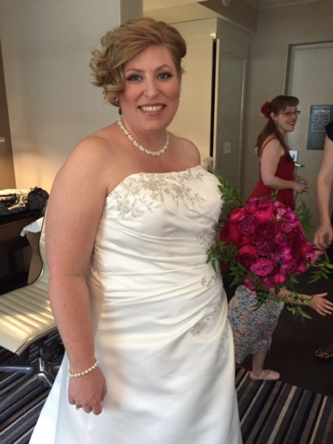 """""""I got my wedding dress from you guys (for a ceremony wherein I was 7 months pregnant) and everything went wonderfully. The dress was perfect! I believe it was consigned when I bought it and it had to be quite tailored, but I was wondering if it could still be consigned back to you? It worked so well for me.. it really was quite ideal. Thanks! Lisa"""""""