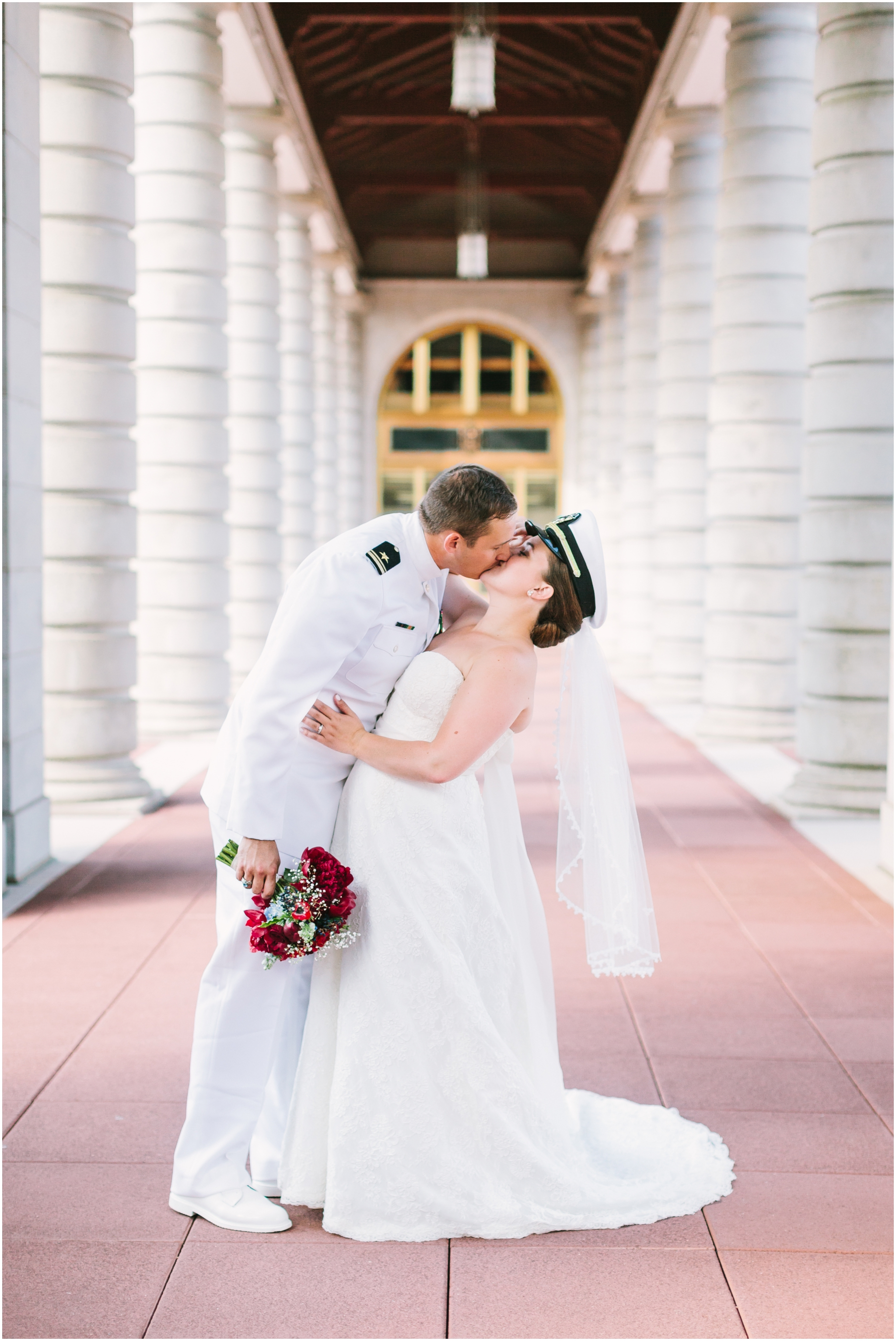 Caitlin + Zach on June 6, 2015 ♥ Megan Chase Photography at US Naval Academy (Annapolis, MD)