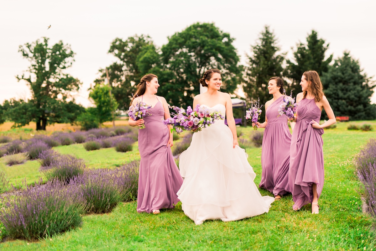 Wedding Chicks - Whimsical, Sugar-Filled Lavender Field Inspiration Shoot