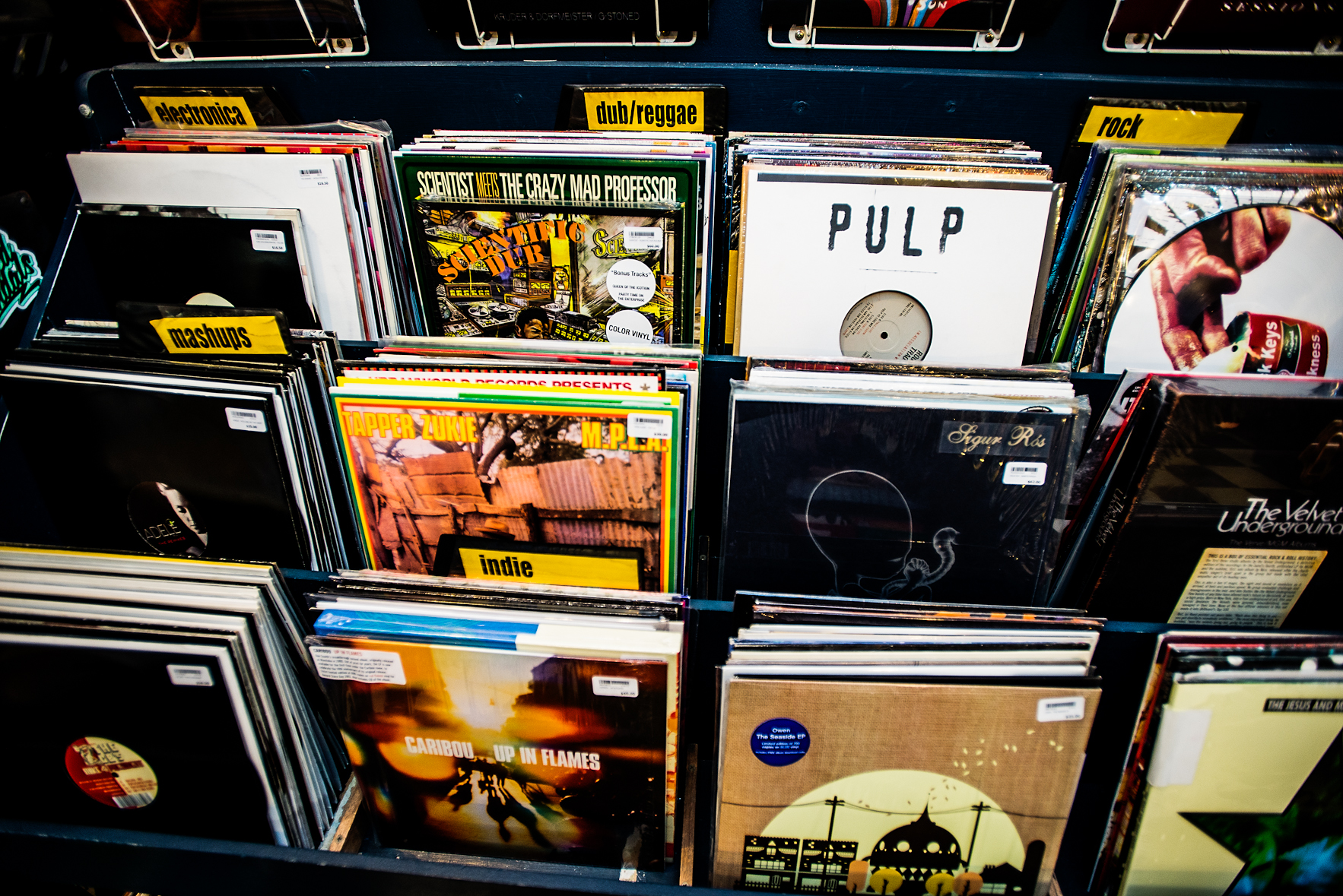 Wall Racks: Record Store, Darlinghurst.