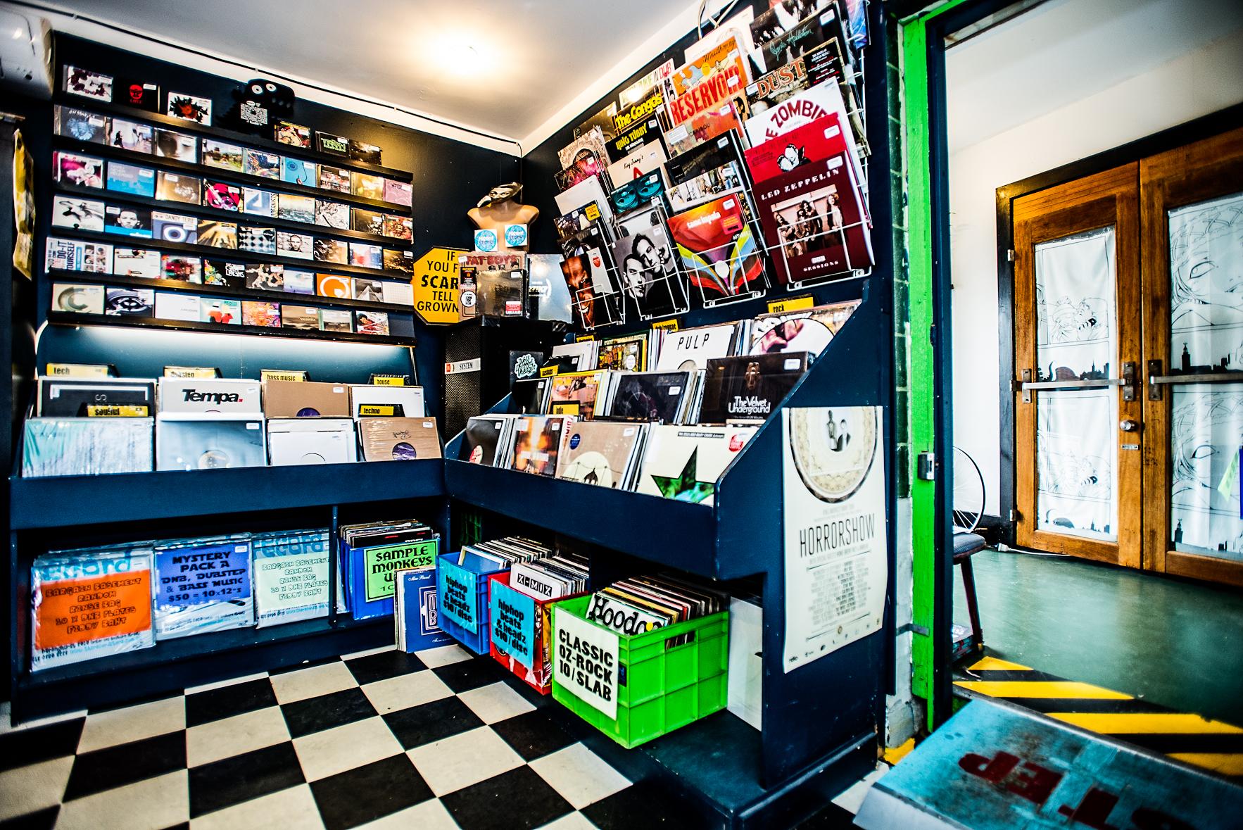 Vinyl Shelves: Record Store, Darlinghurst.