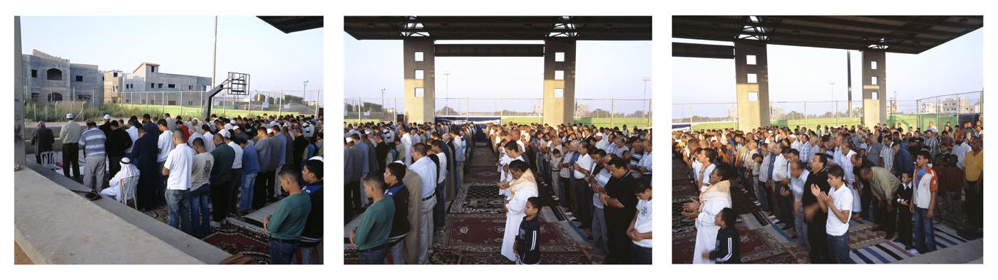 Eid al- Fitr Prayer #2 ( triptych), 2007, Inkjet print, 110X137 each