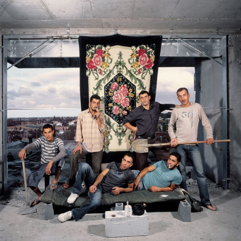 Nashat, Nasser, Amin and friends, 2010, Inkjet print, 120 x 120 cm