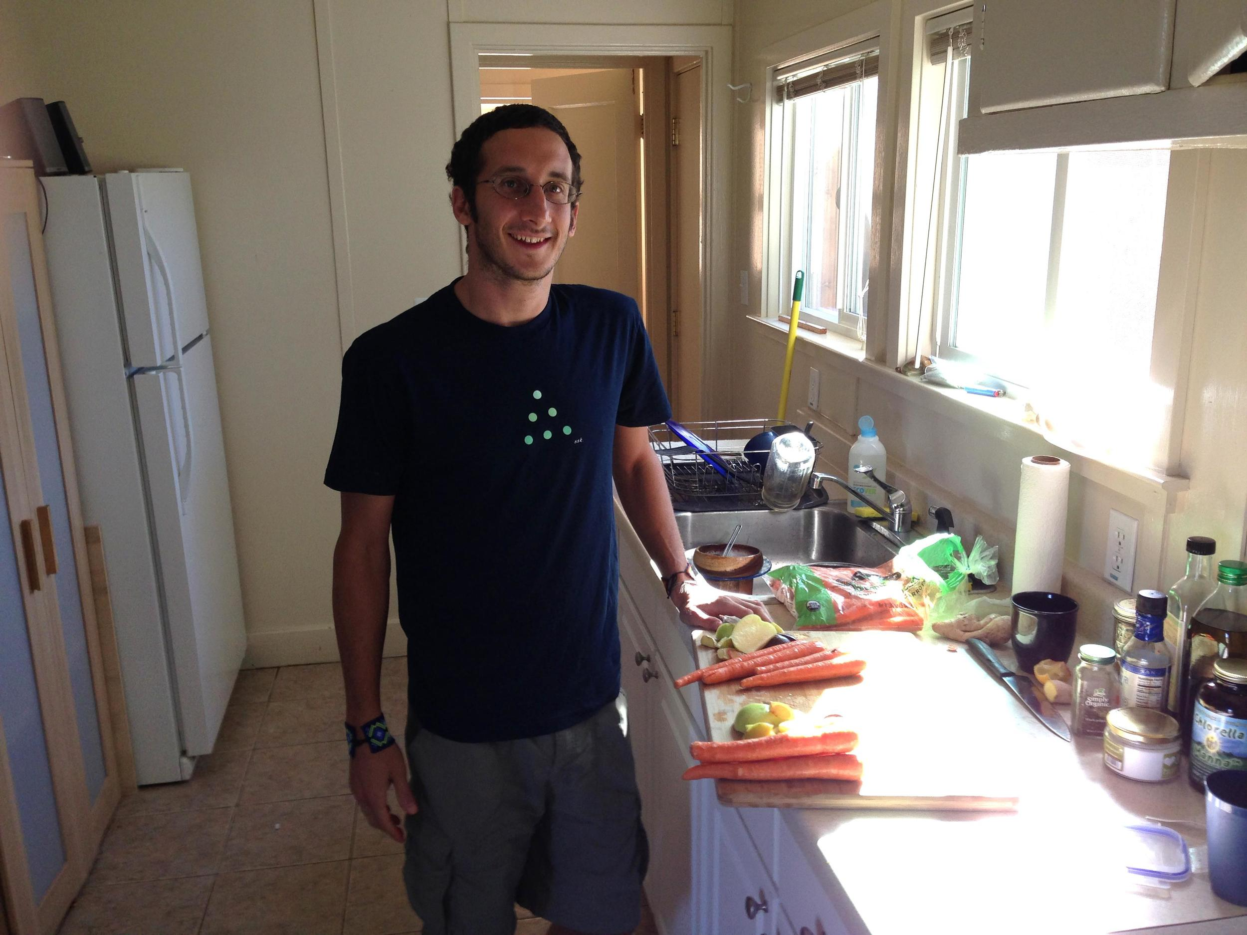 Dan Goldstein, health foods maker and shaker.  Santa Cruz, California