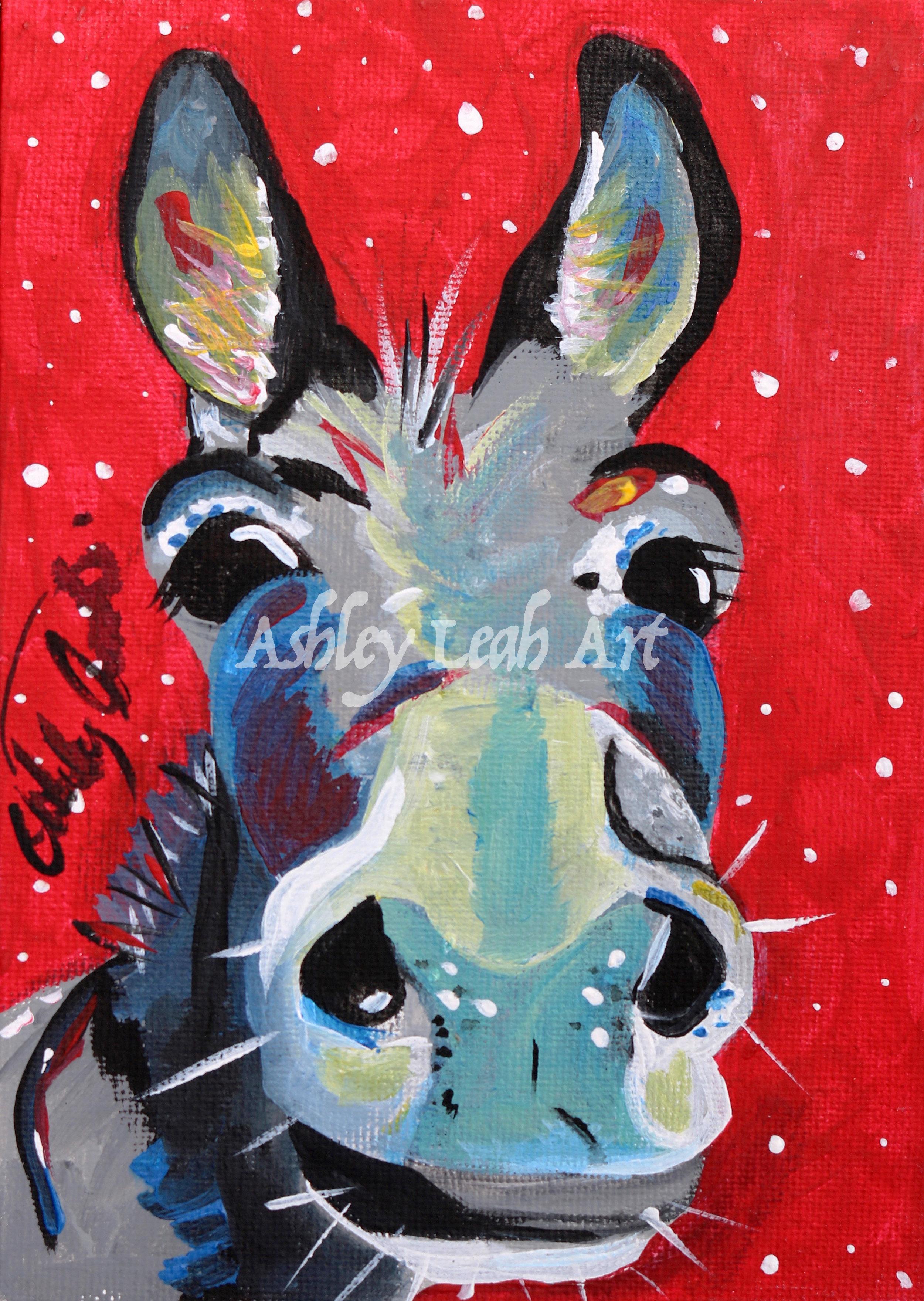 Cindy the Christmas Donkey -