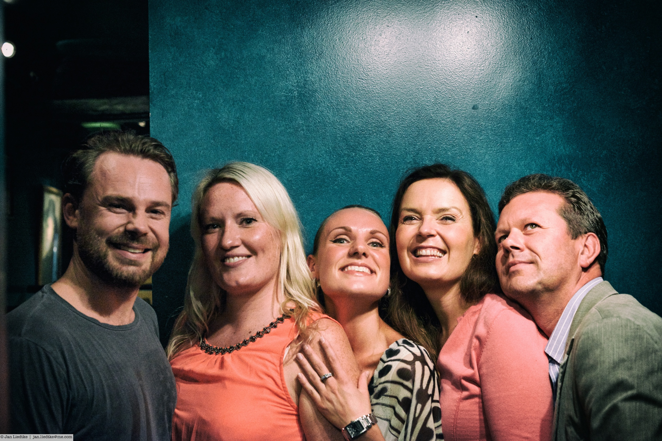 The cast of the 4-Sep-2014, from left to right: Kjetil, Ingegjerd, Caroline, Gro Bente and Patrik