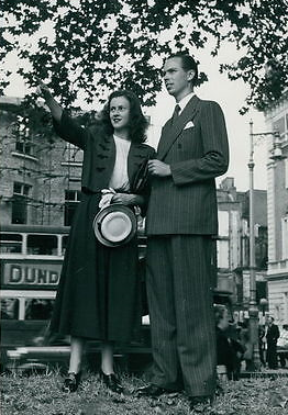Lesley Piddington with her husband, famous magician
