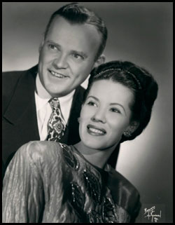 Lucille Roberts with her husband