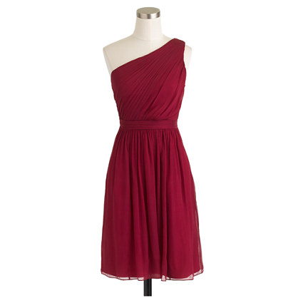 J.Crew - Kylie Dress, Silk Chiffon in Wild Beet