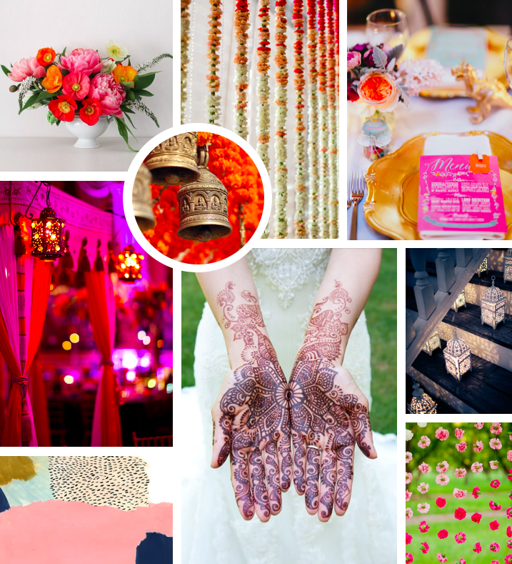 Bright Indian Wedding Inspiration // Lucky & In Love