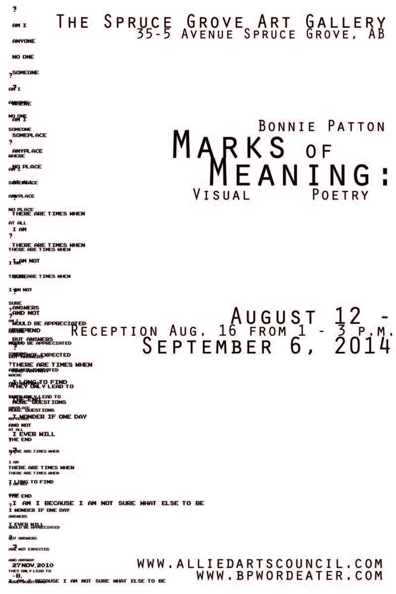 Marks of Meaning postcards 2014