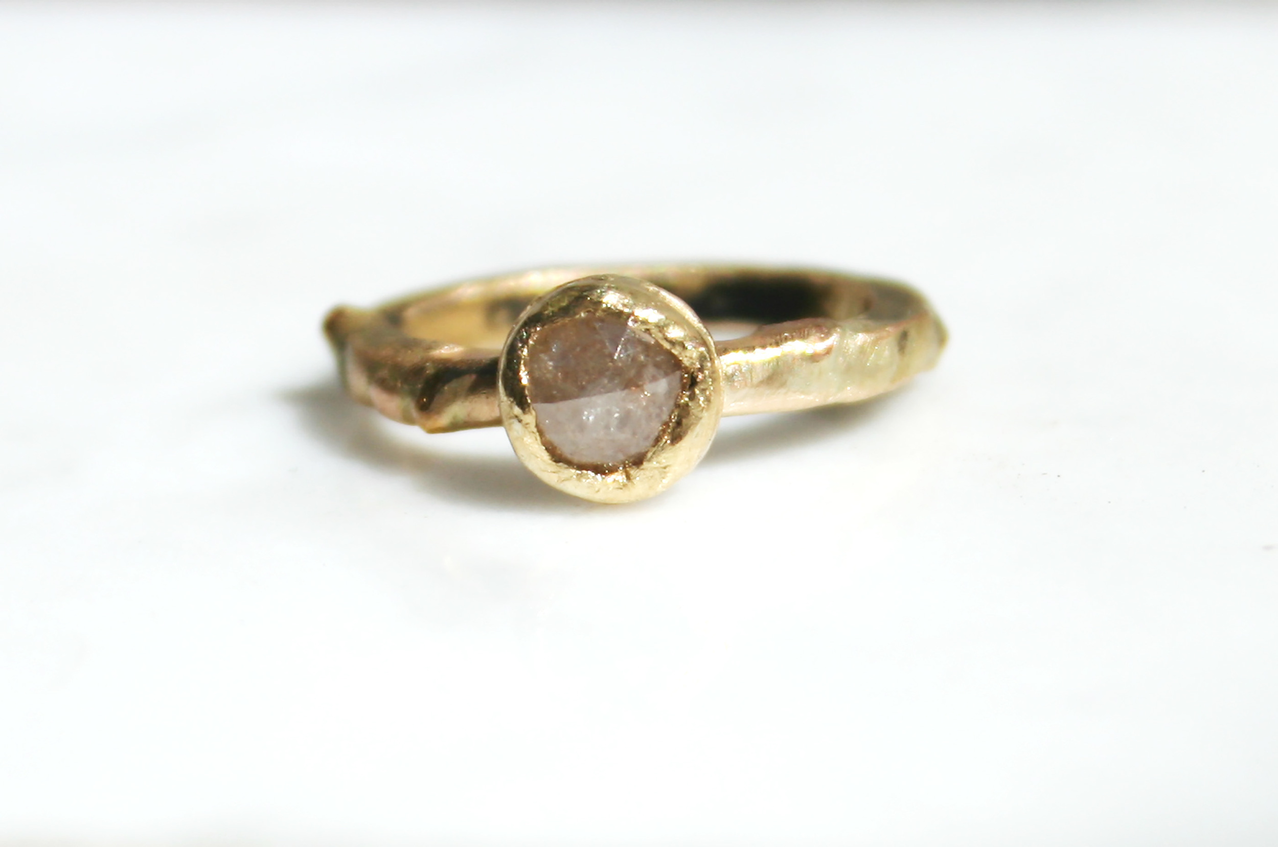Ethical Sourcing - We buy all recycled gold that is manufactured in the United States.Our diamonds have been purchased from legitimate sources, not involved in funding conflict. Sometimes we buy reclaimed diamonds, meaning they were taken from older existing rings. Mostly, we will not know the history of these diamonds.