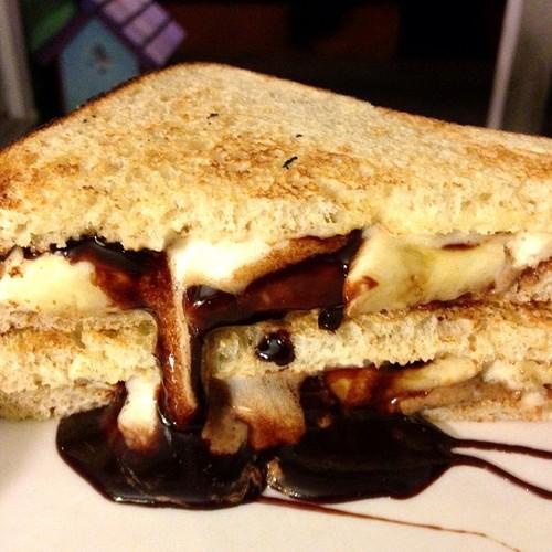 Sour Dough, Bread, Bananas, Vegan Chocolate, Almond Butter