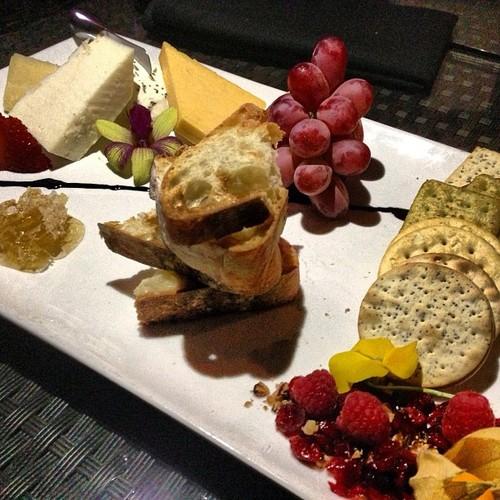 Grapes, Crackers, Baguettes, Strawberries, Raspberries, Honeycomb, Goat cheese...