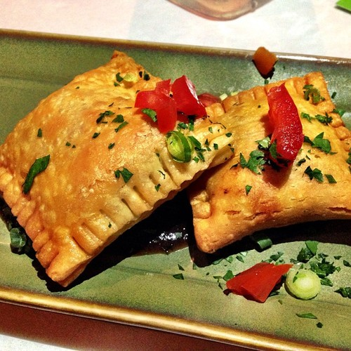 Lightly fried, picadilo stuffed pastry