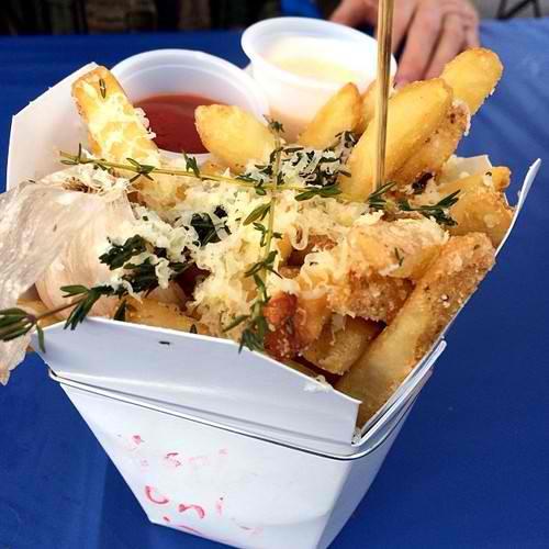 Thyme, cheddar, garlic fries, french fries