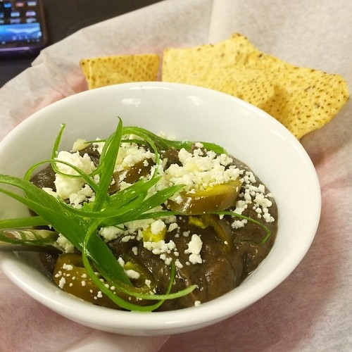 Black Bean Dip with Queso Fresco & Jalapeños @ Kesh Restaurant