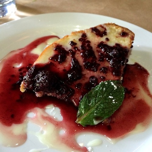 Limoncello glaze, balsamic berry compote