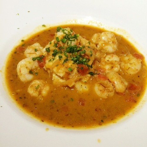 Cape Canaveral Royal red shrimp, Bradley country store white grits, creole spices