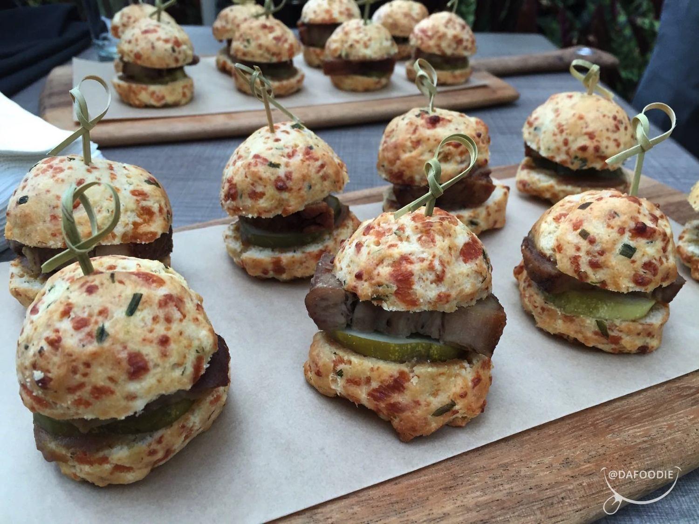 Delicious Pork belly mini burgers