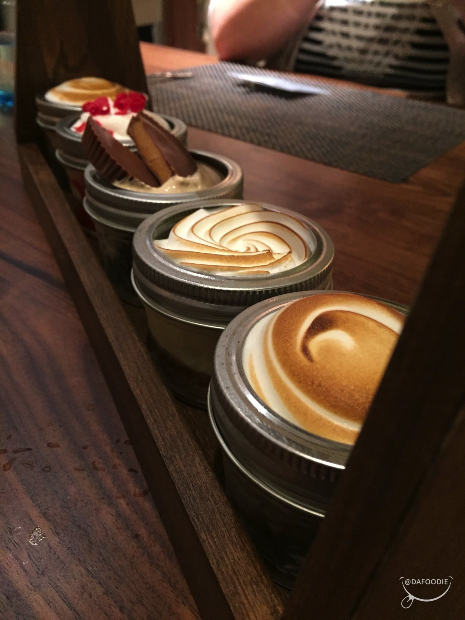 Chef's desserts - key lime pie, strawberry shortcake, s'mores, peanut butter cup.