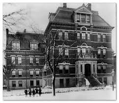 Children's Aid Society building in New York City, begun by Charles Loring Brace in 1853 to house homeless immigrant children.