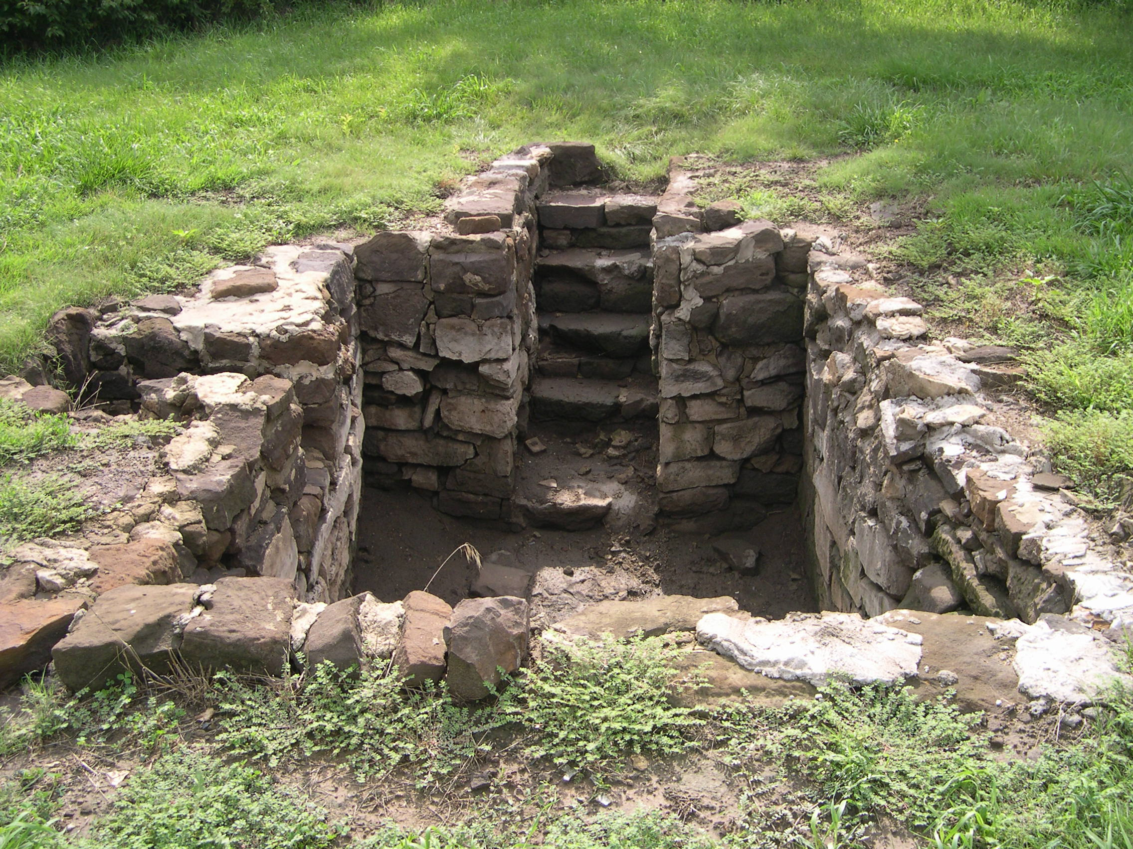 Remains of the Hoglund family dugout one mile west and one-half mile south of Lindsborg, Kansas. Gustav and Maria plus two babies lived there for two years.