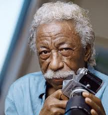 Gordon Parks with one of his favorite work tools and play things. His creative work with a camera permanently changed photo-journalism