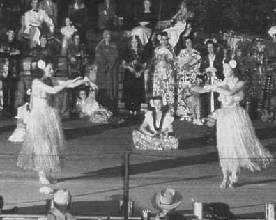 Morganville, Kansas, performs to raise money for Feves, France, in 1948.