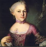 Constanze Mozart, Mozart's wife and mother of his children.