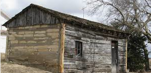 "Brewster Higley's cabin near Athol, Kansas, near where he wrote ""Home on the Range""."