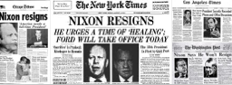 Nixon resigned. Vice-president Ford takes over. It's a tough time for the country.
