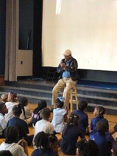 Fun Day at GPES - David Parks visits Gordon Parks Elementary School
