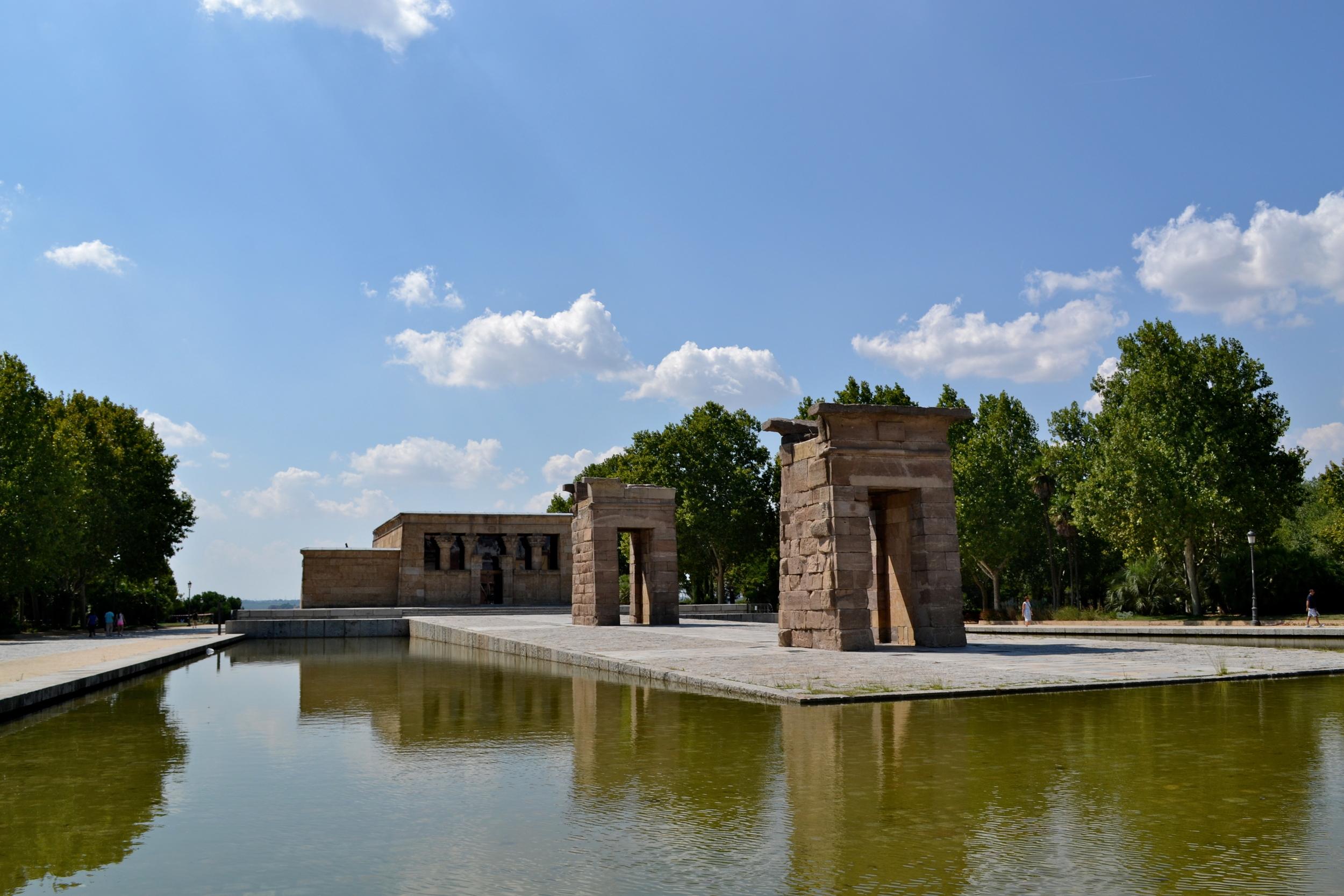 The Egyptian Temple in Parque Casa de Campo