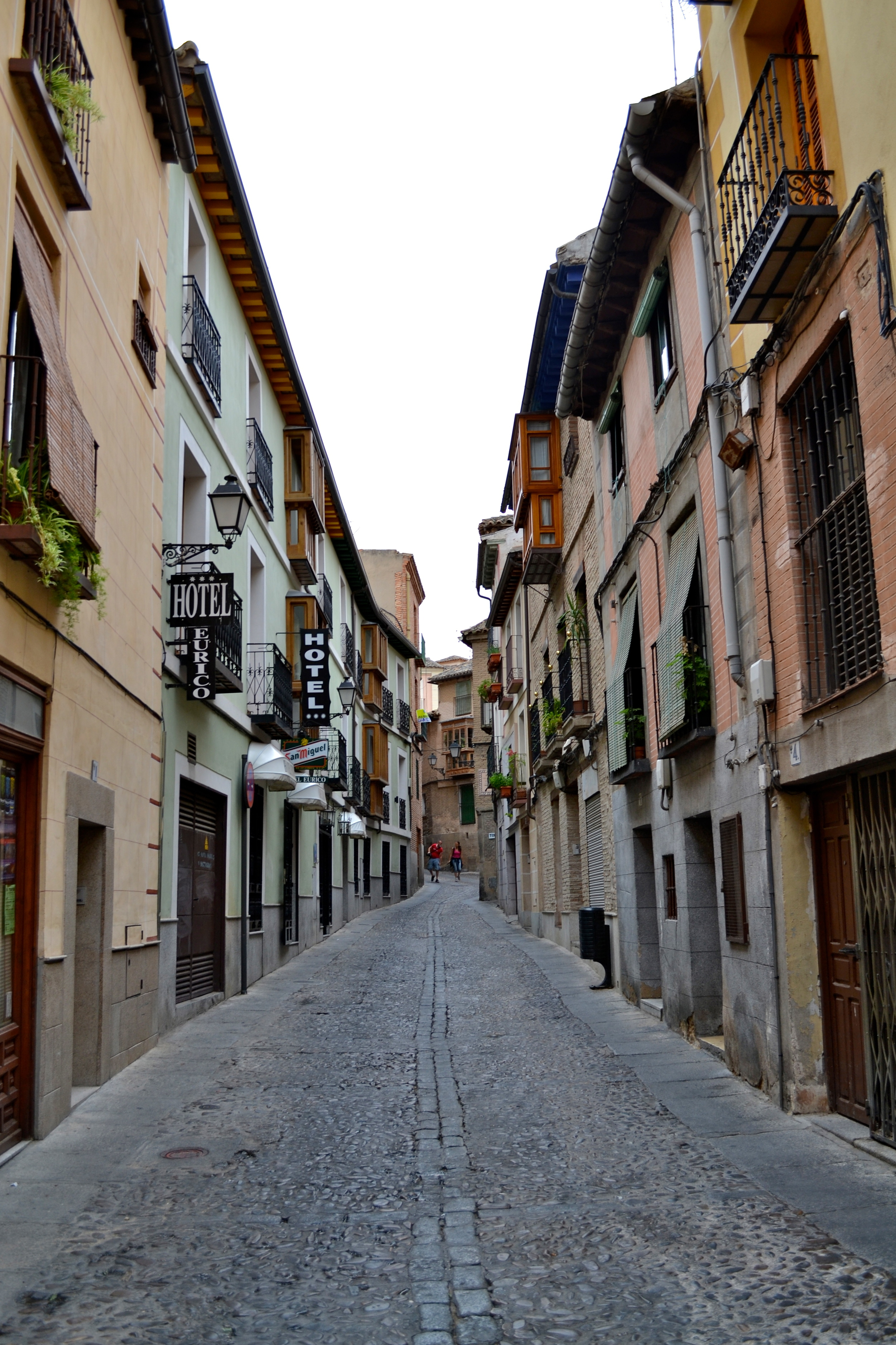 A street in Toledo, showcasing its European charms.