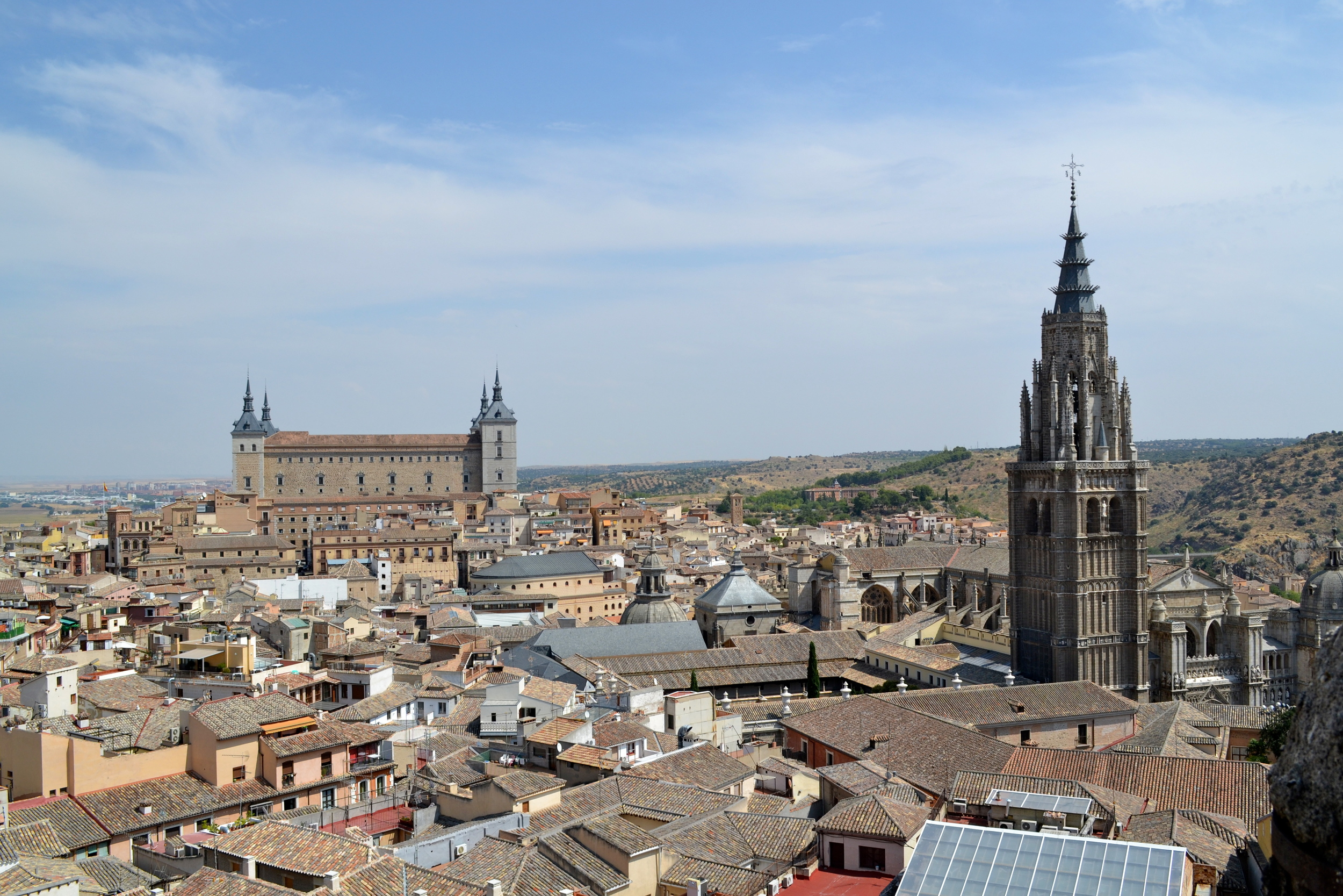 View of Toledo from the top of Iglesia de los Jesuitos.