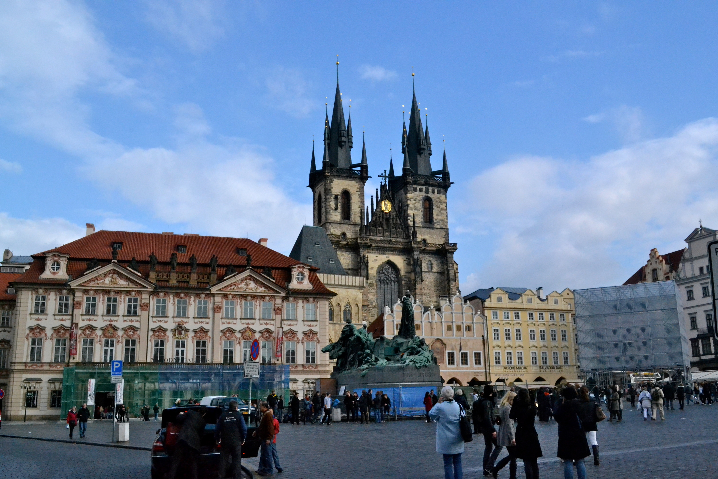 Some of the buildings along the Old Town Square (including the Tyn Church)