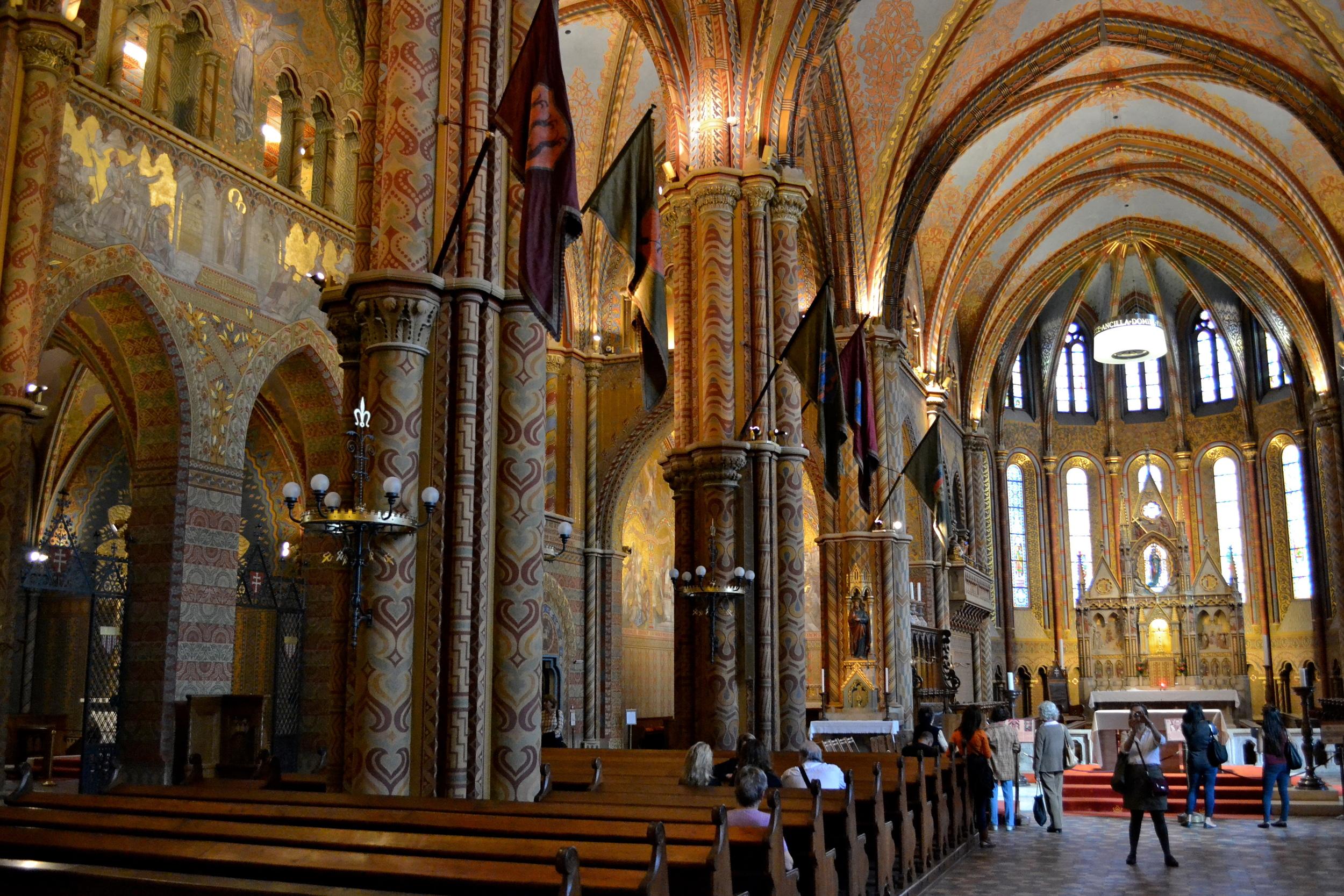 Inside the Matthias Church.