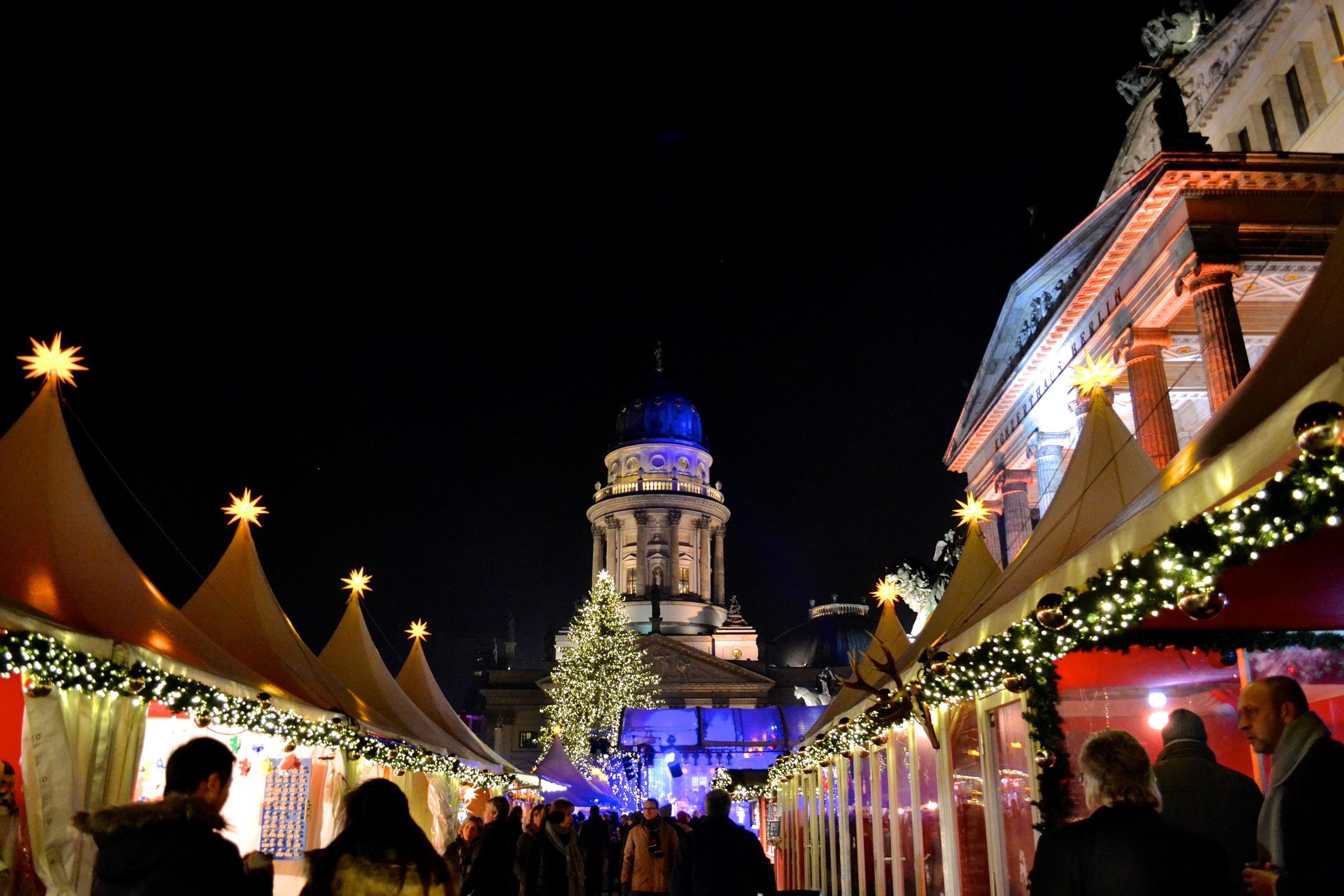 The Weihnachtsmarkt at the Gendarmenmarkt.