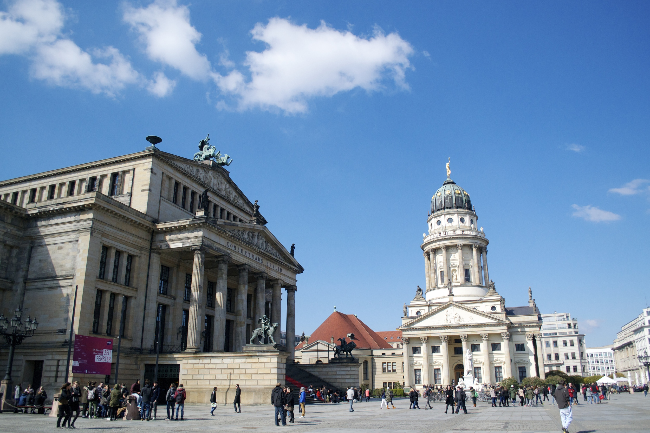 The Gendarmenmarkt on a beautiful sunny day.
