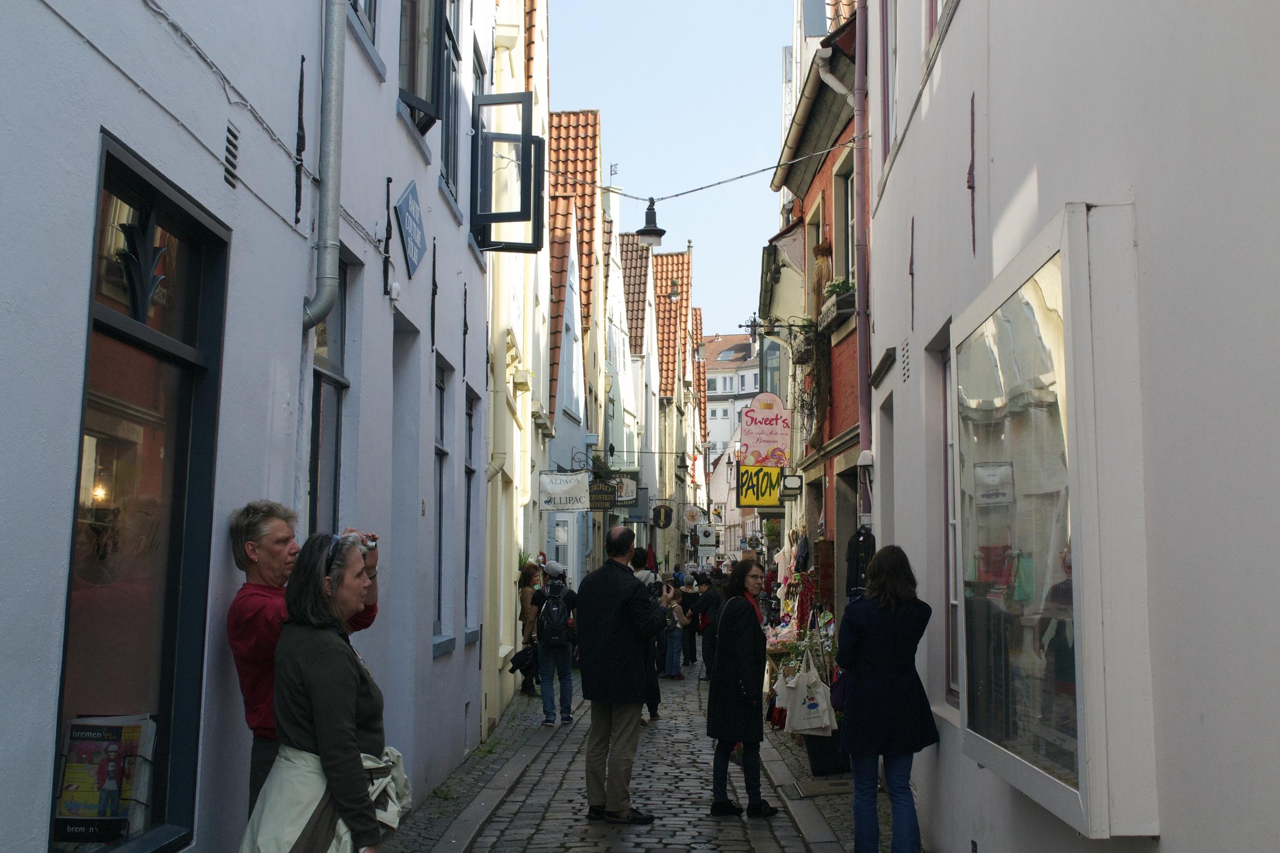 A typical street in the Schnoorviertel.