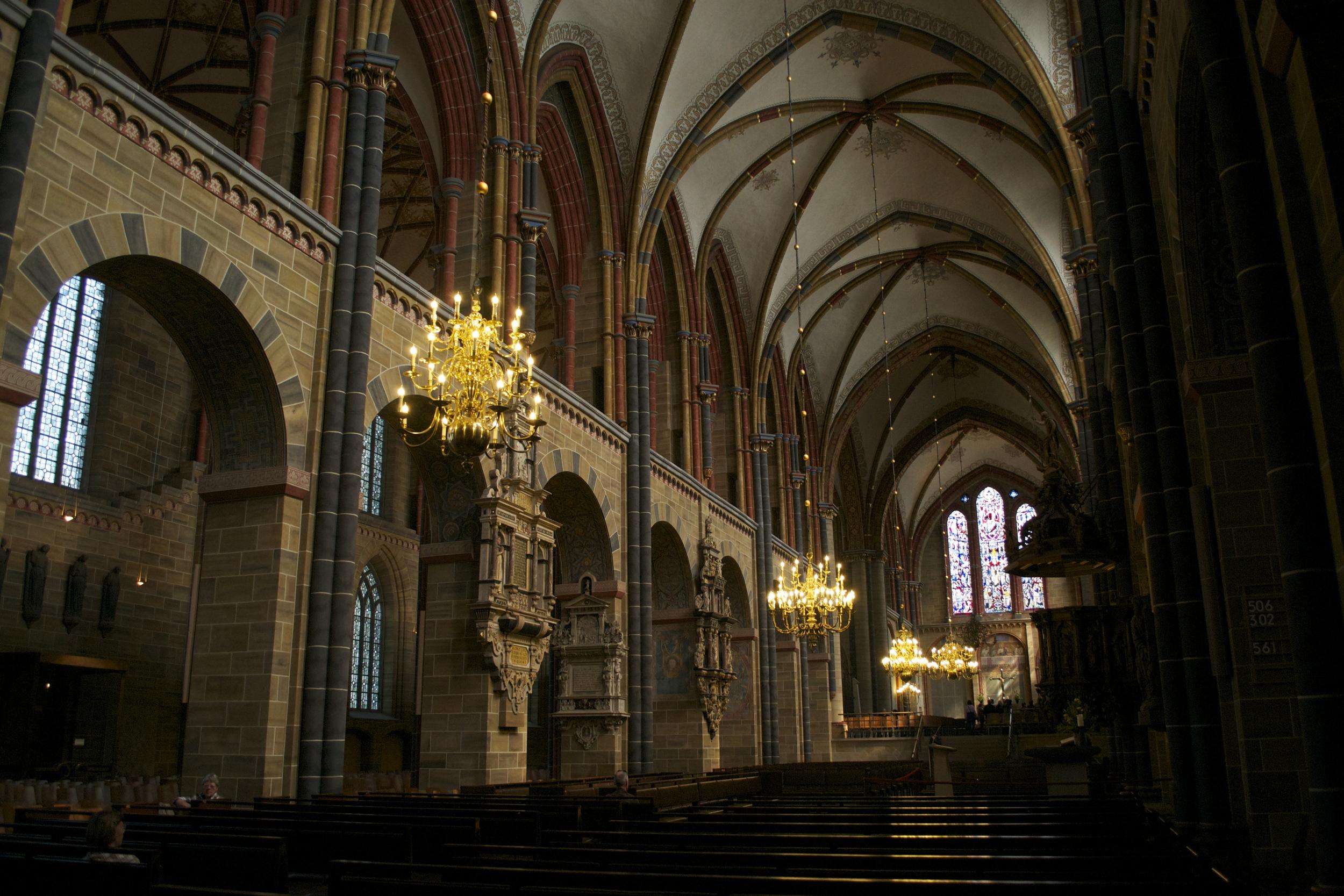 Inside the St. Petri Dom.